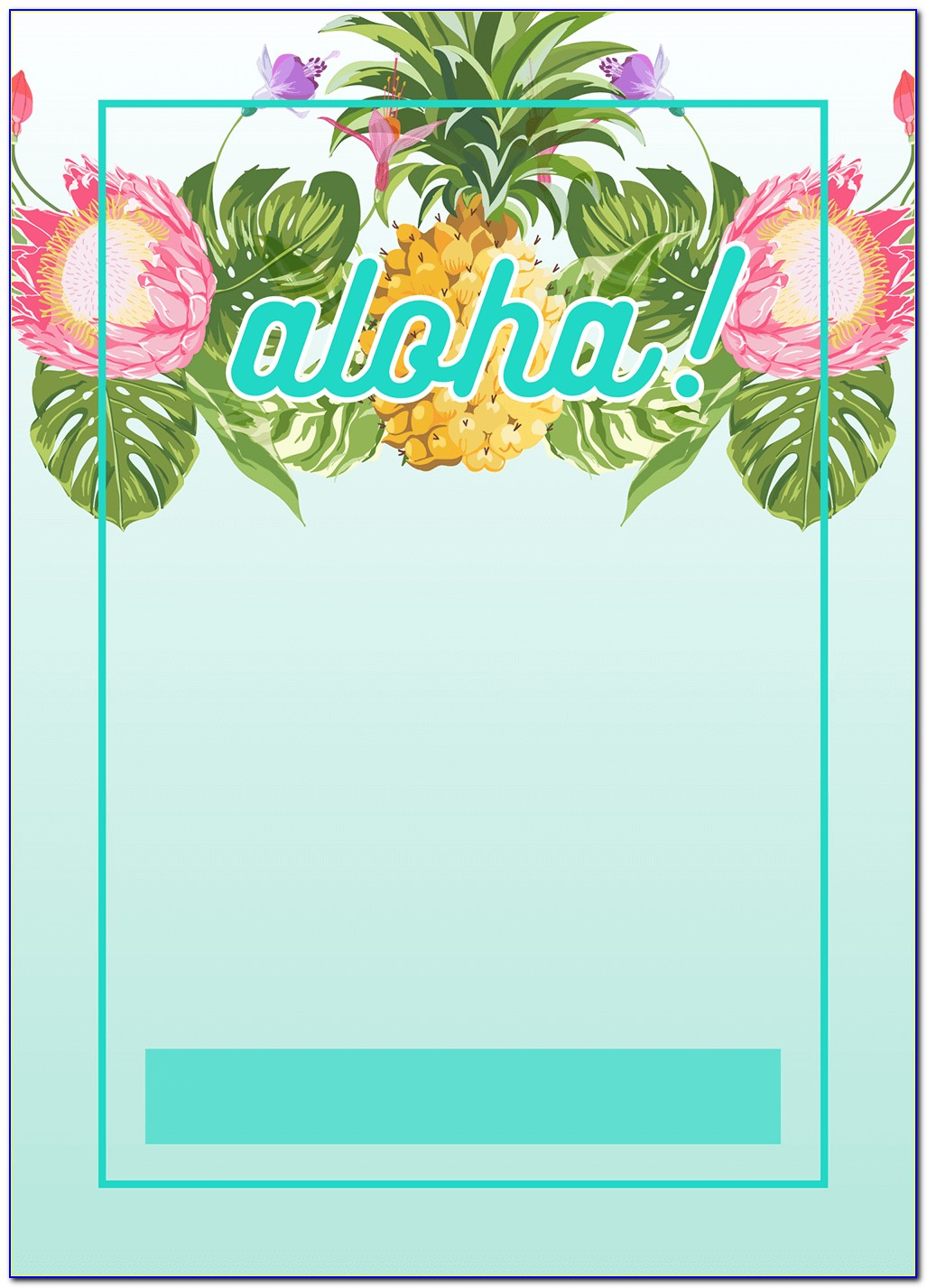 Hawaiian Birthday Party Invitations Templates Free