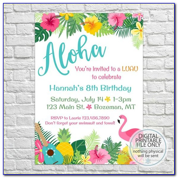 Hawaiian Christmas Party Invitation Templates