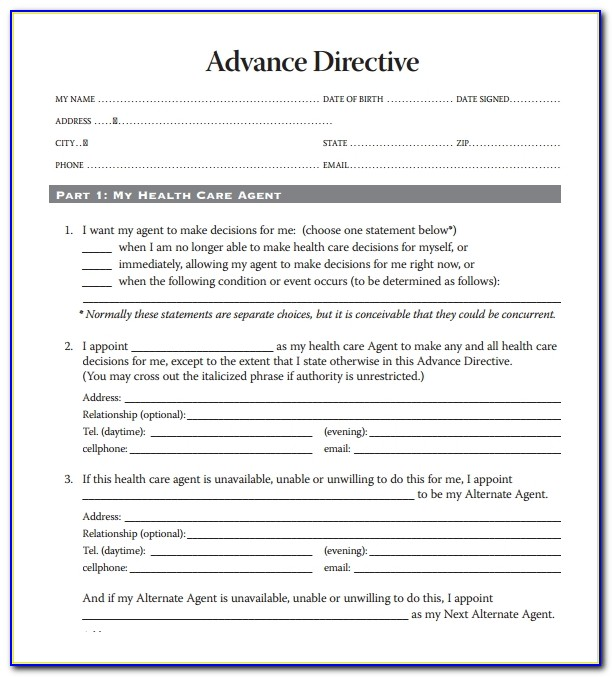 Health Care Directive Form Florida