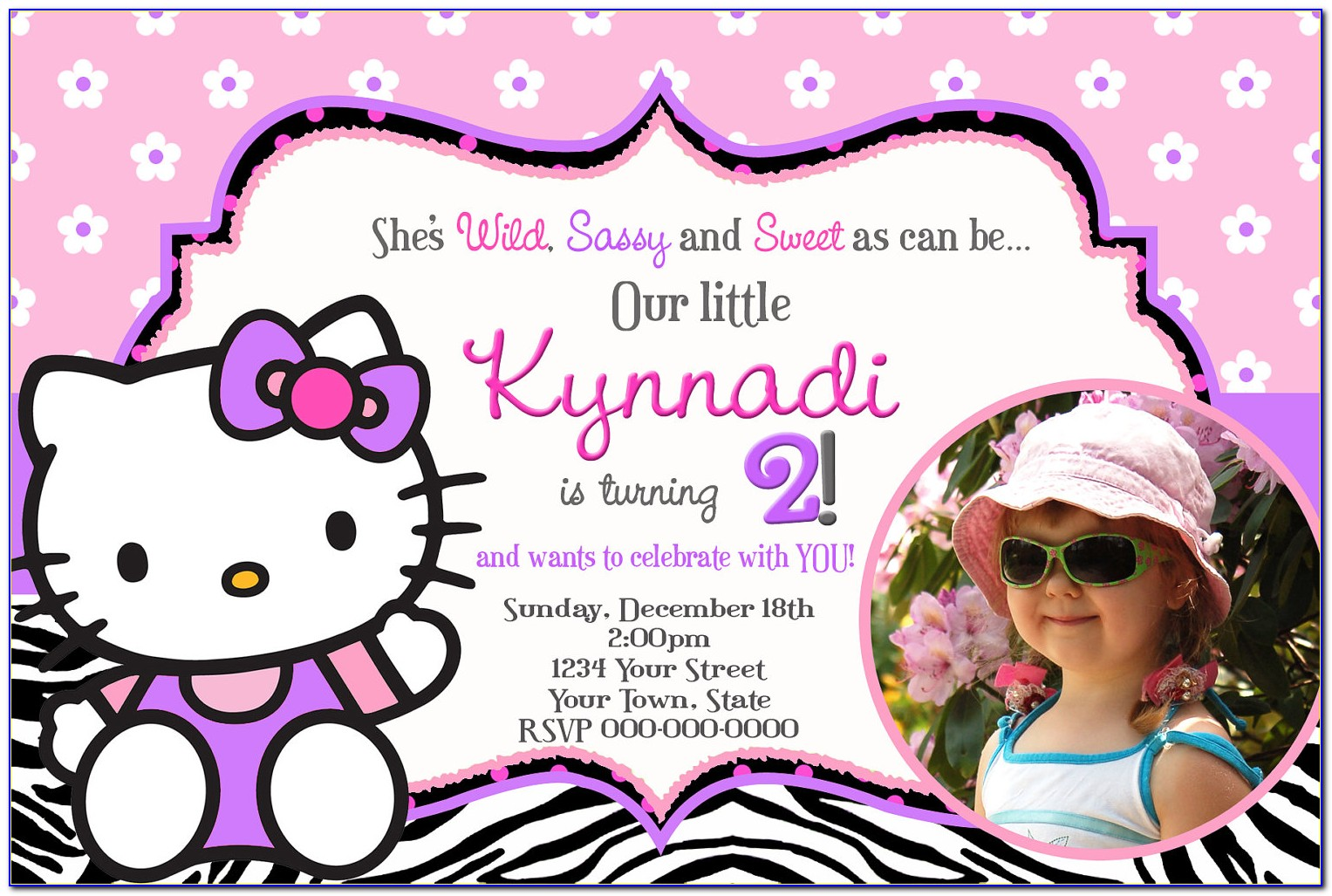 Hello Kitty Birthday Invitation Template Free
