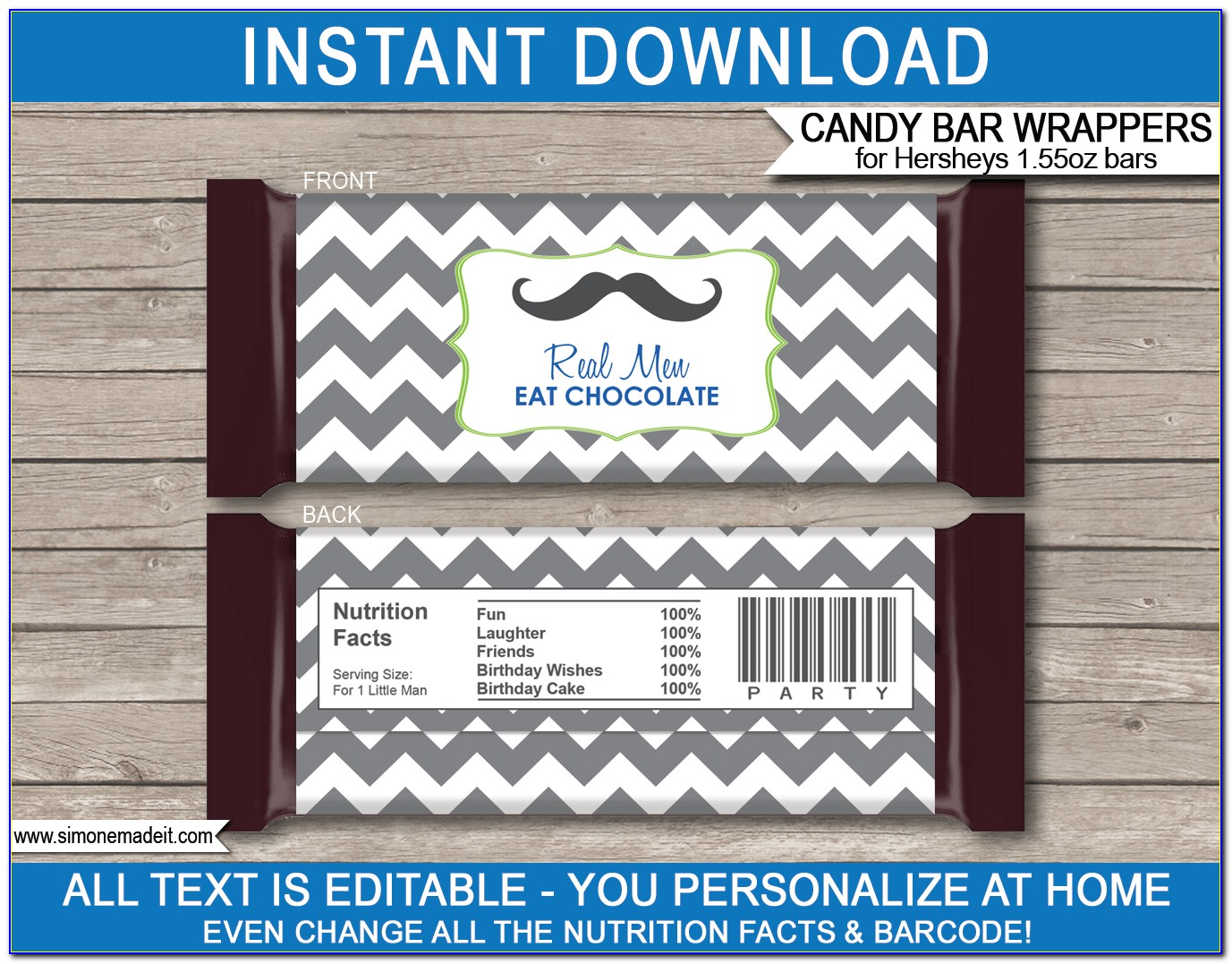 Hershey Bar Wrapper Template Download