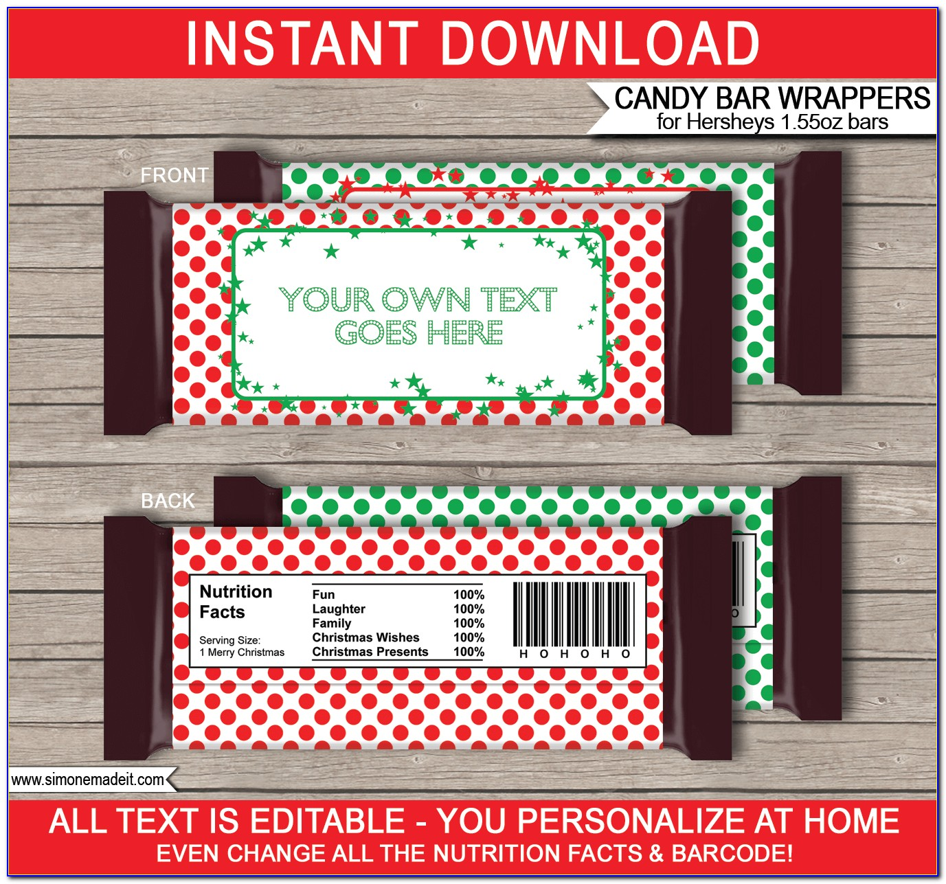 Hershey Bar Wrapper Template Publisher