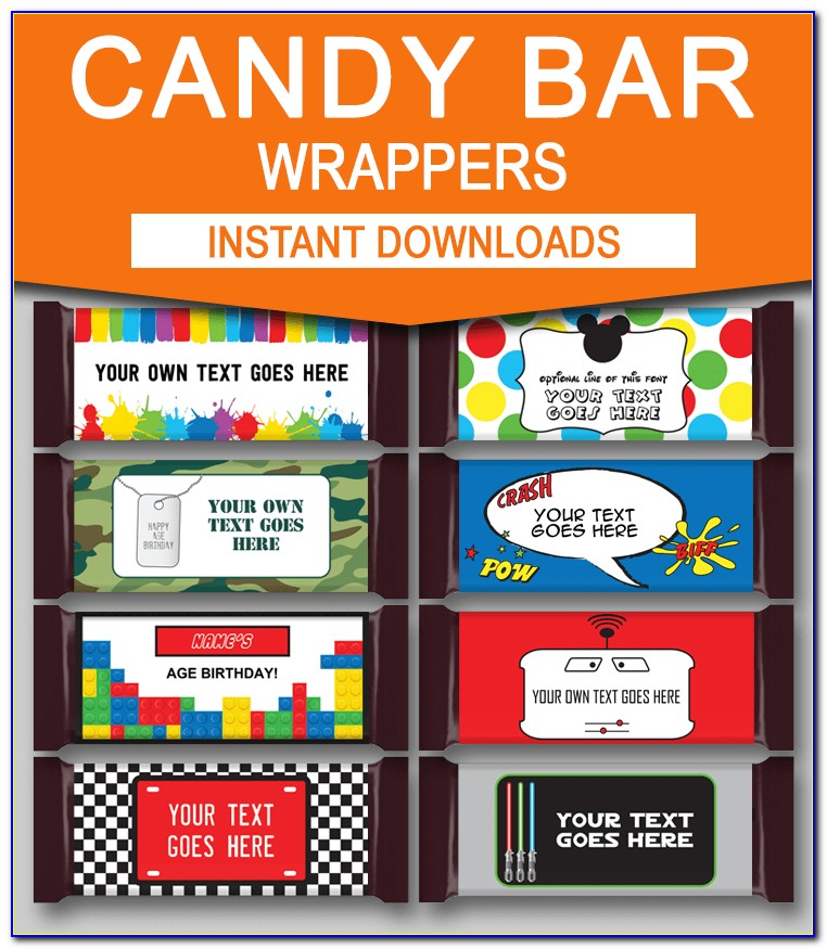 Hershey Chocolate Wrapper Template Free