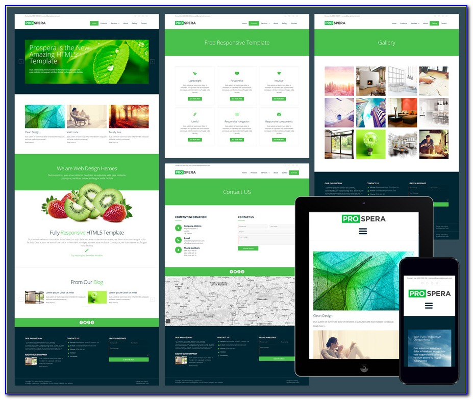 Html5 Webshop Template Free