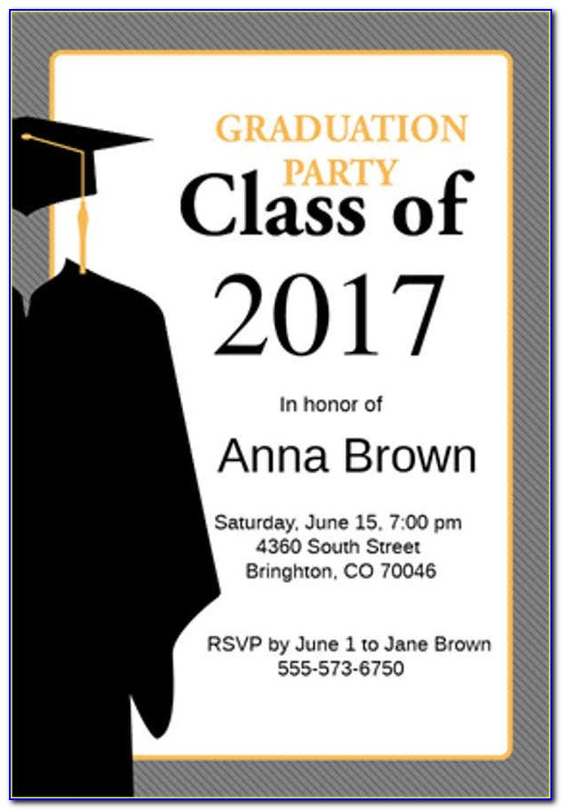 Kindergarten Graduation Invitation Templates Free Download