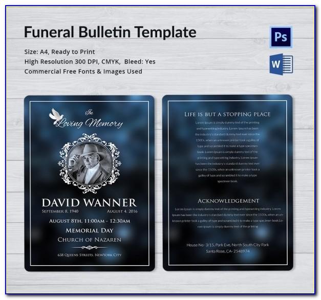 Lds Funeral Program Template Download