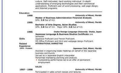 Microsoft Office Online Free Resume Templates