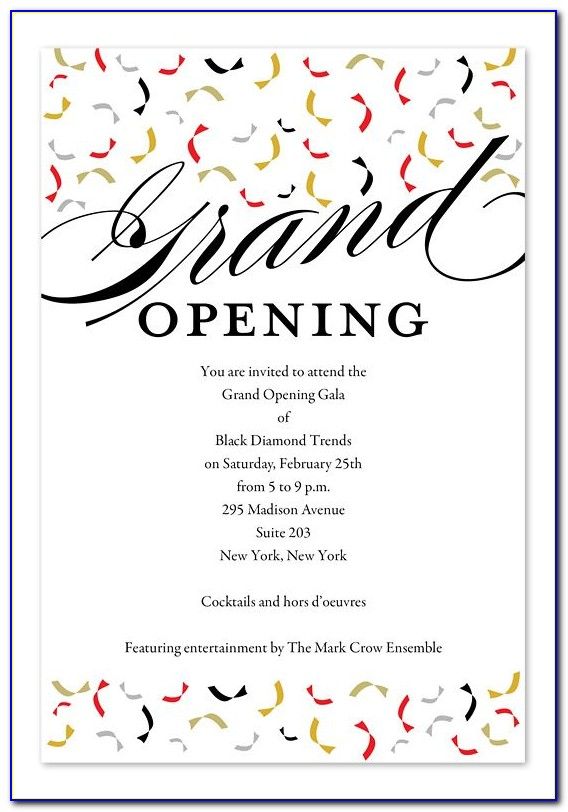 Office Grand Opening Invitation Design
