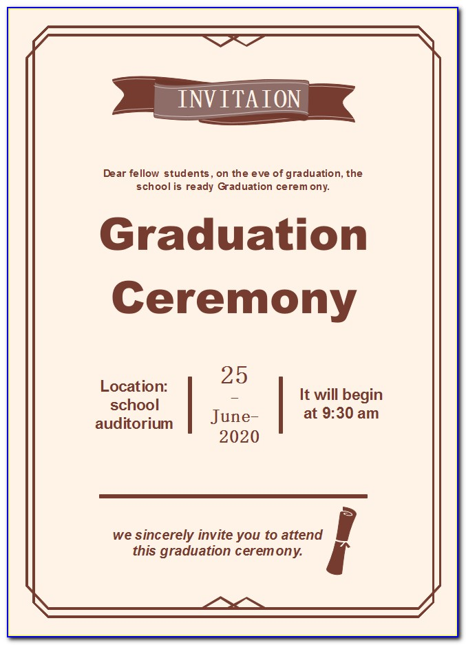 Preschool Graduation Ceremony Program Template
