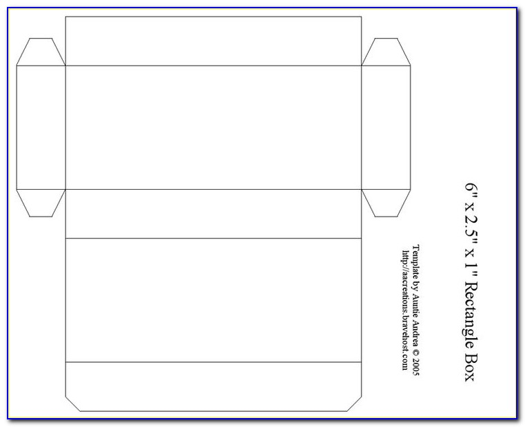 Printable Gift Box Template With Lid