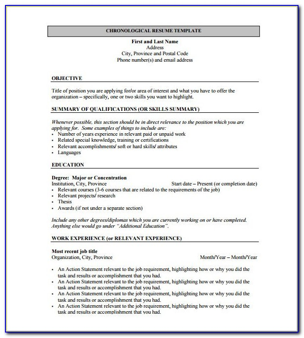 Resume Format For Mca Freshers Pdf Free Download