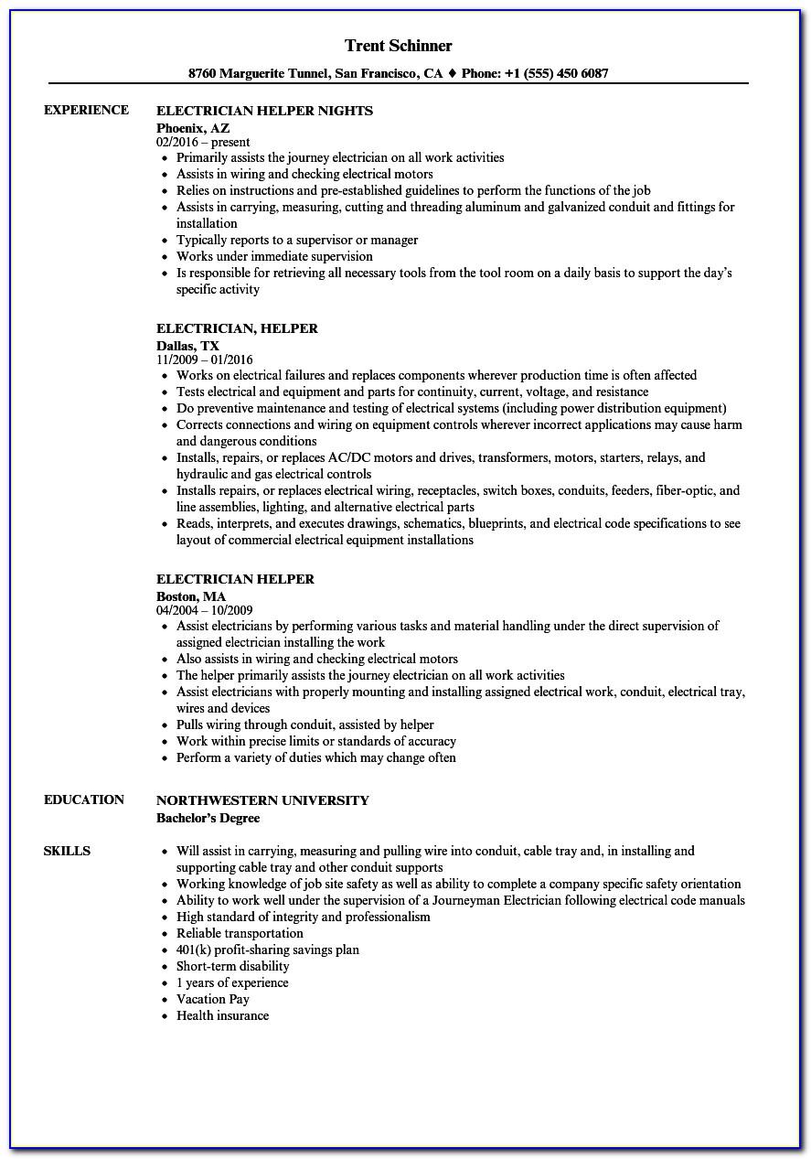 Resume Samples For Medical Field