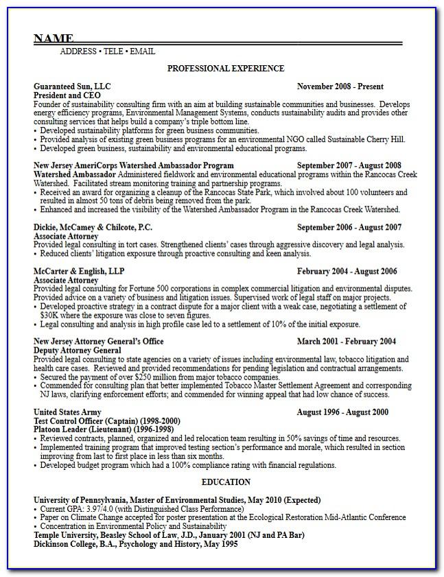 Resume Template For Grad School Application