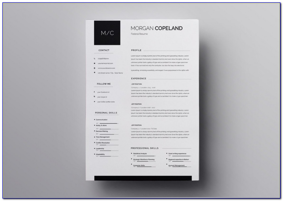 Resume Templates Free Download For Experienced Professionals