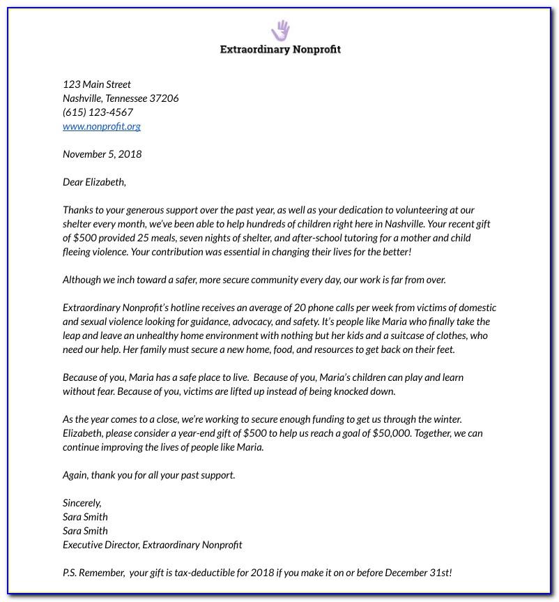 Sample Donation Letter For School Fundraiser