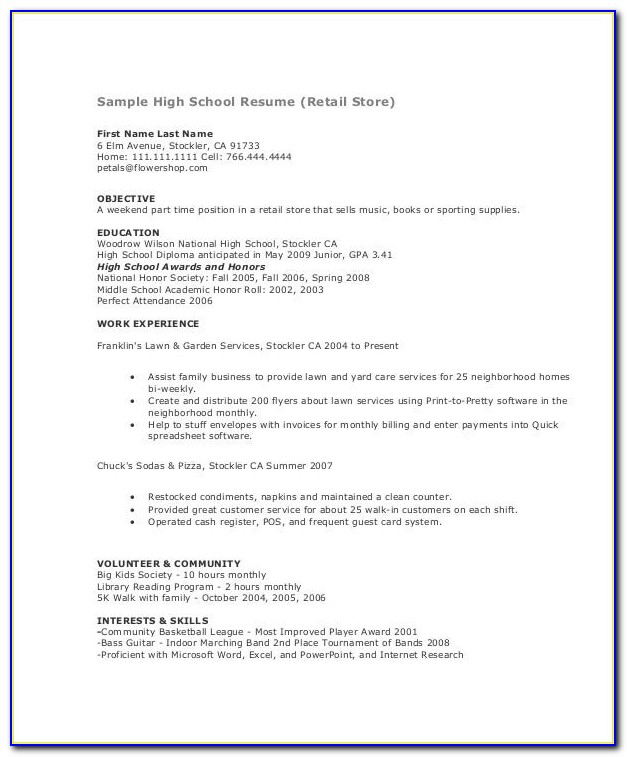 Sample Resume For Dental Assistant