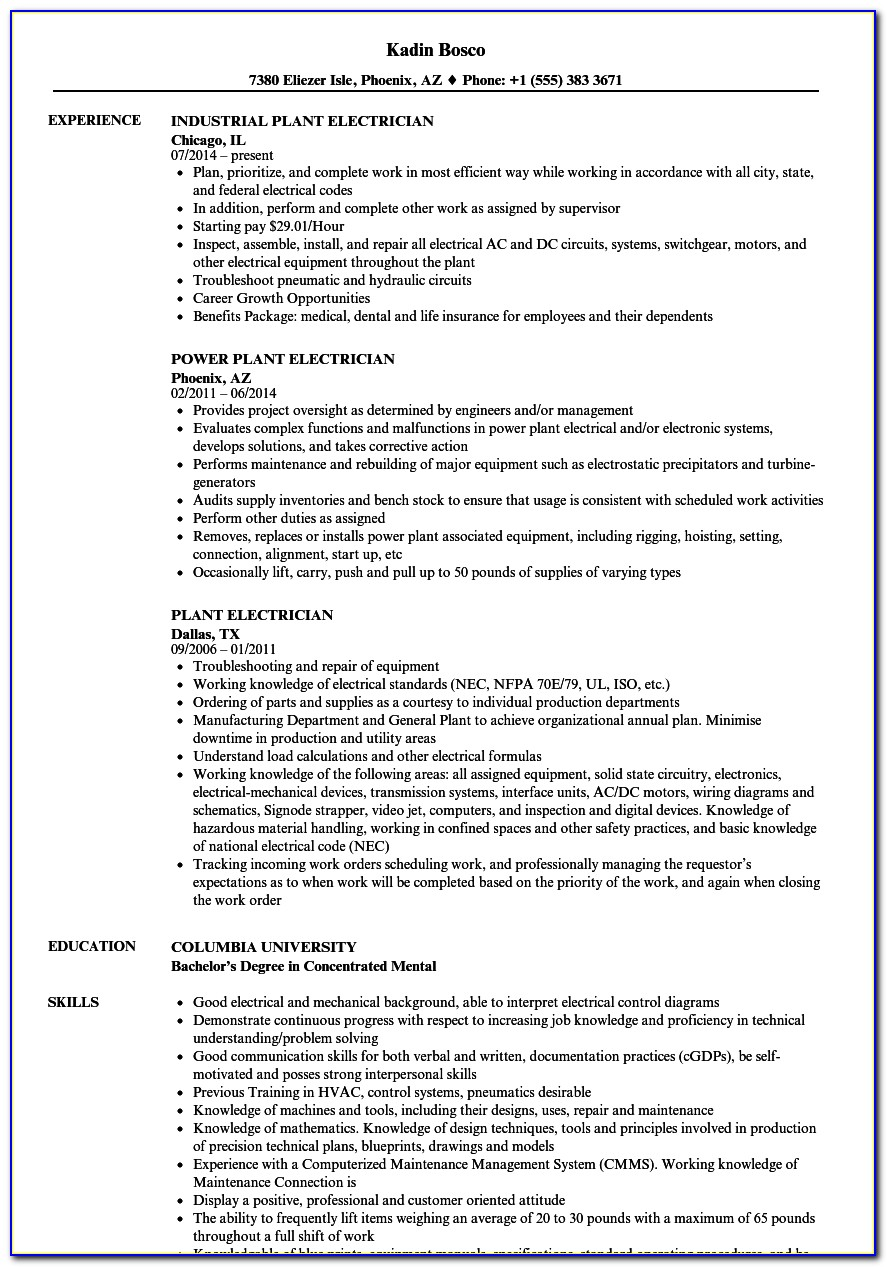 Sample Resume For Faculty Position In Engineering College