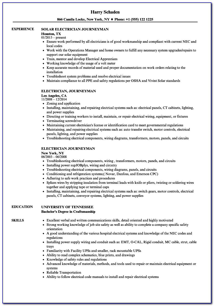 Sample Resume For Online Teaching Position