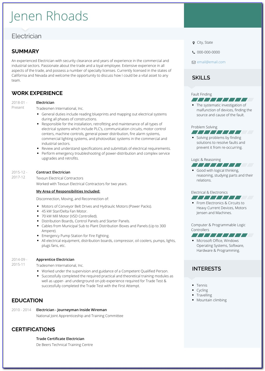 Sample Resume For Teaching Assistant Position