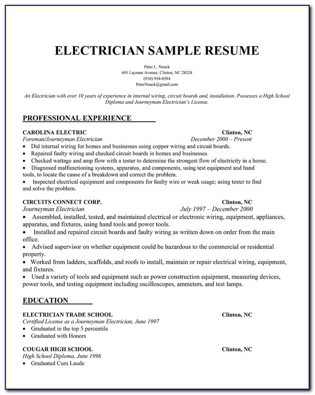 Sample Resume For Teaching Position With No Experience
