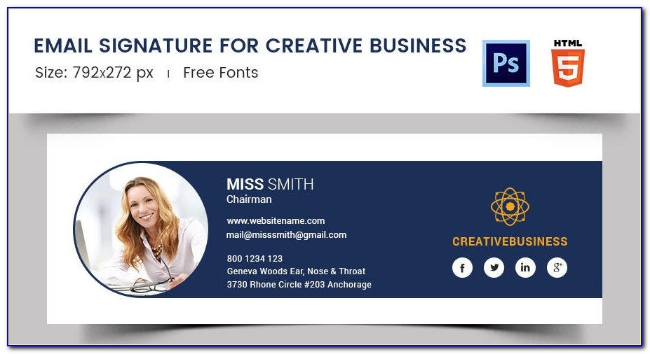 Simple Email Signature Template