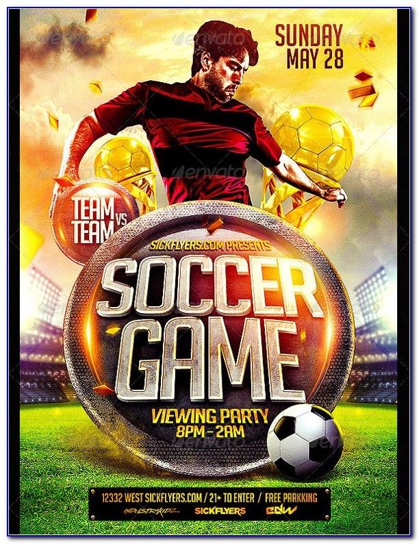 Soccer Game Flyer Template Free
