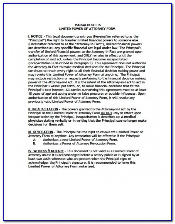 Texas Statutory General Durable Power Of Attorney Form