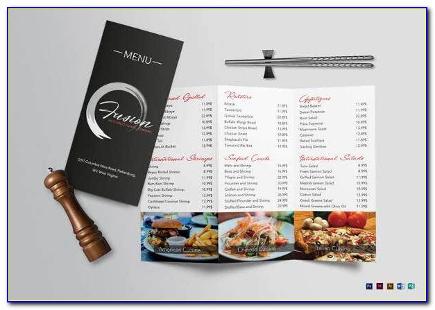 Tri Fold Menu Template Illustrator