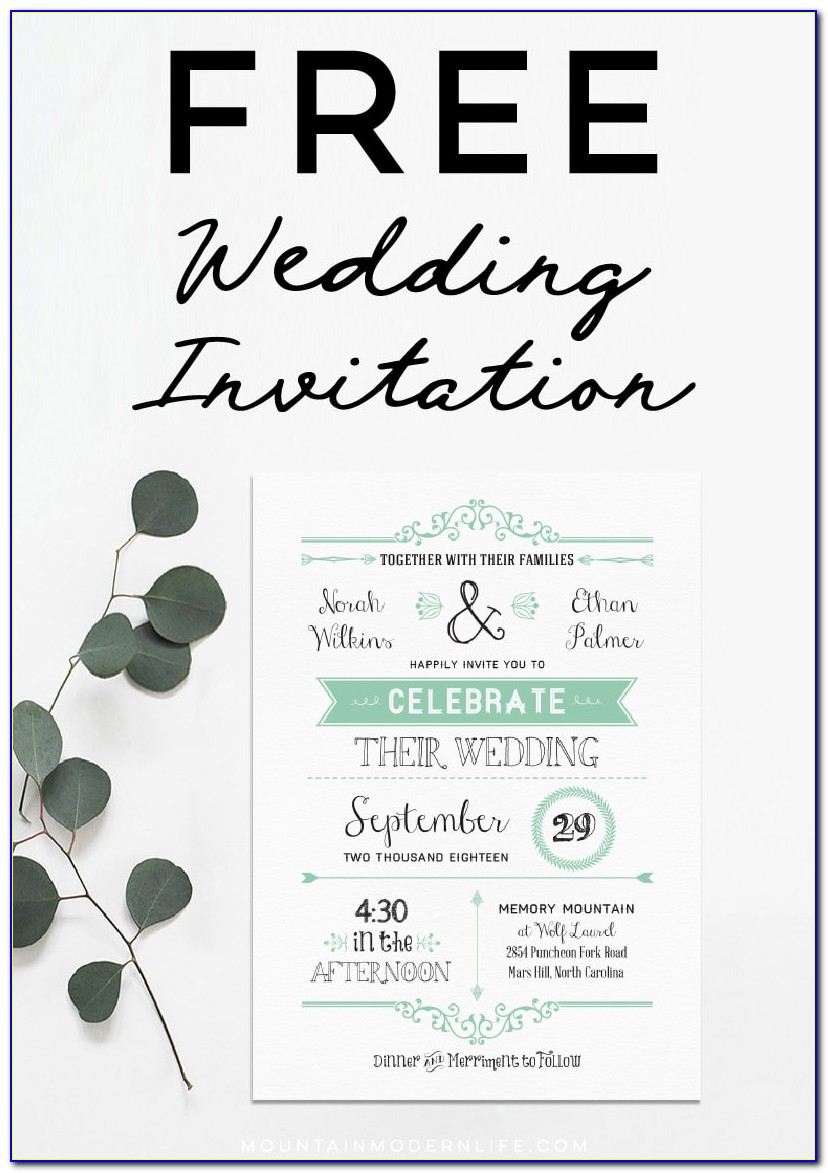 Editable Wedding Invitation Templates Free Download For Word