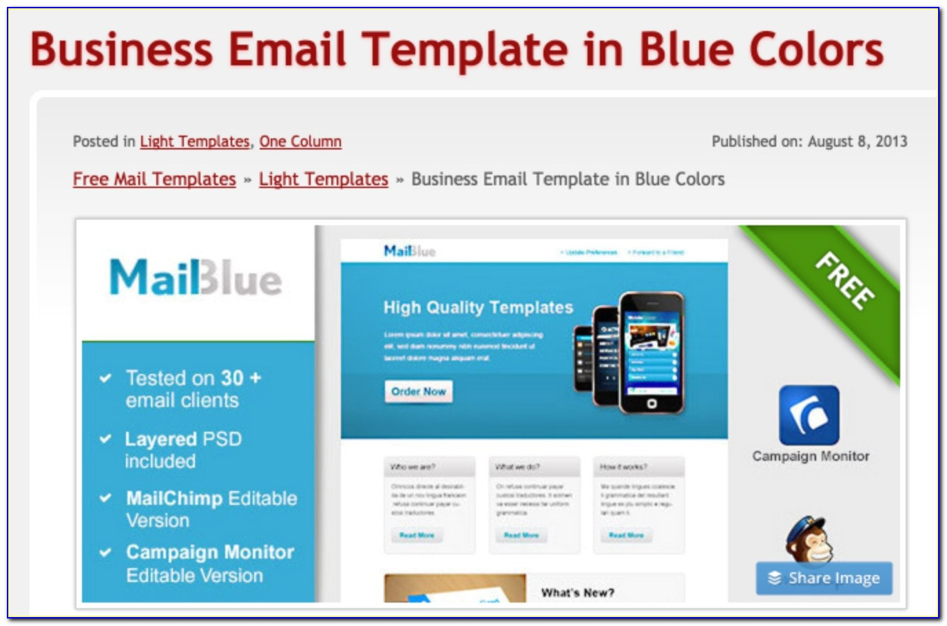 Email Newsletter Templates Free Download Psd