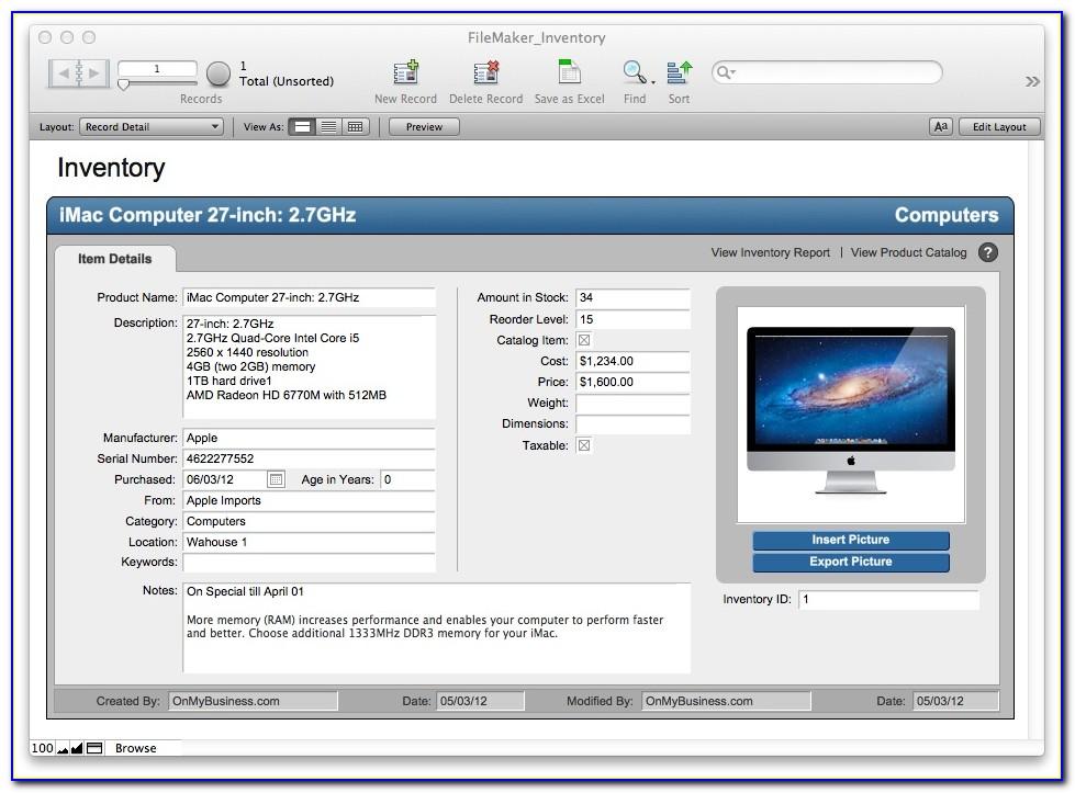 Filemaker Pro 15 Free Templates