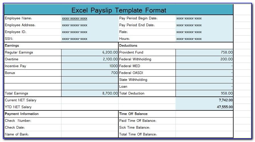 Free Australian Payslip Template Excel