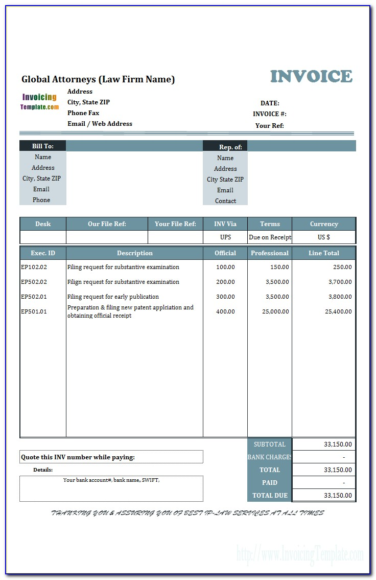 Free Blank Invoice Template Australia