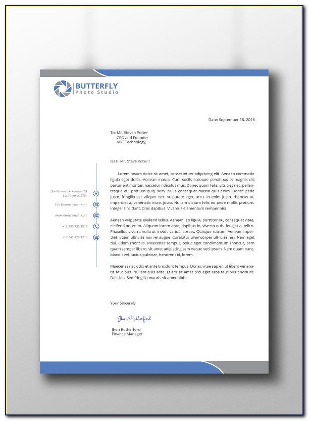 Free Business Letterhead Design Templates Download