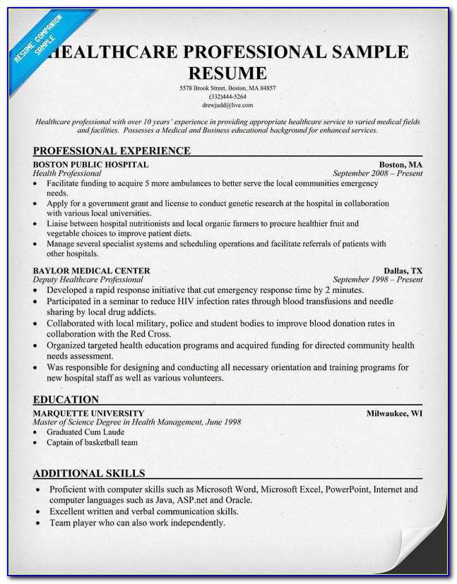 Free Certified Medical Assistant Resume Samples