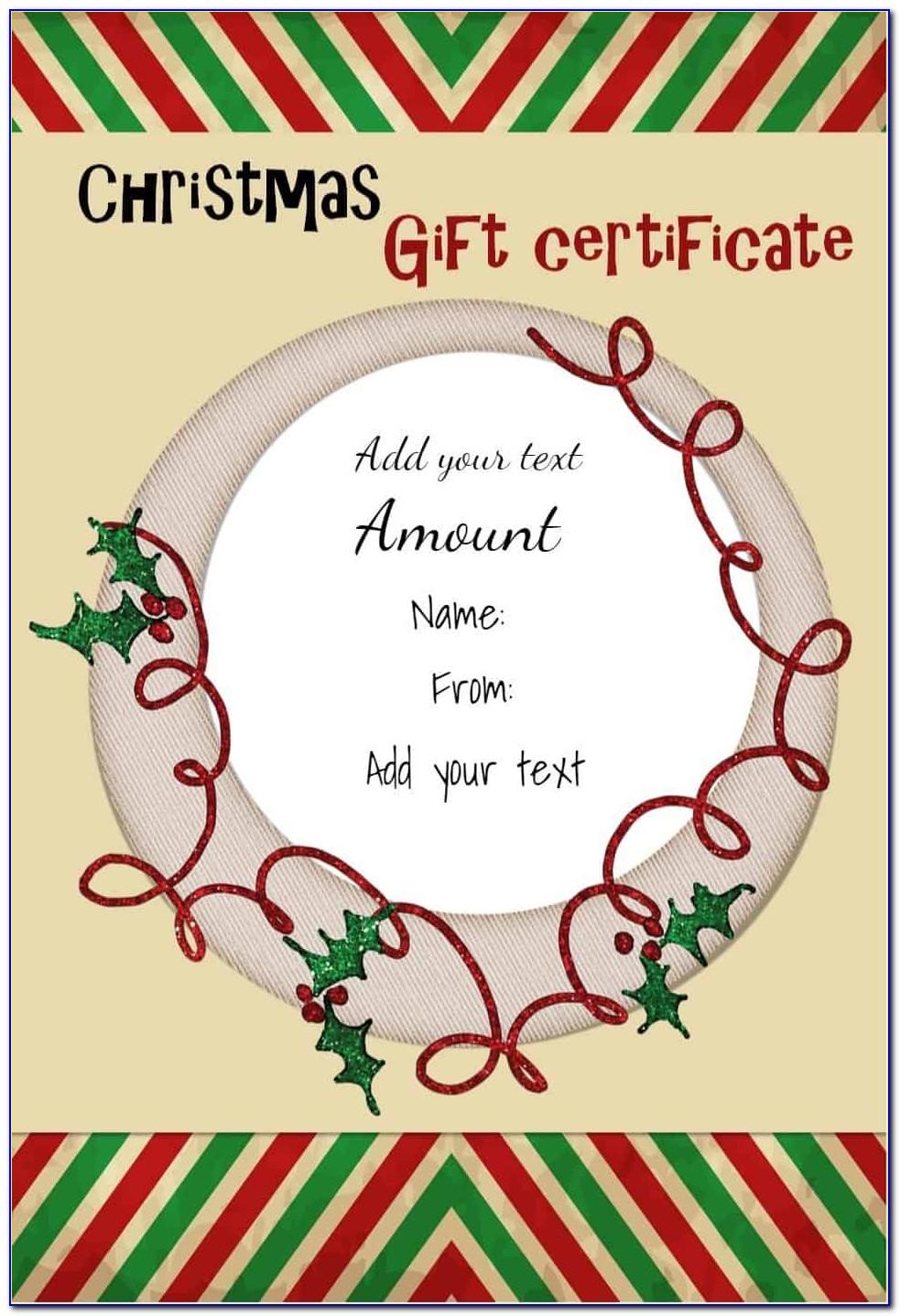 Free Christmas Gift Card Printable