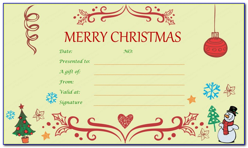 Free Christmas Gift Card Templates