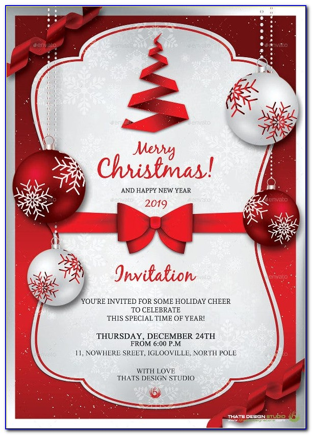 Free Christmas Party Flyer Templates For Microsoft Word