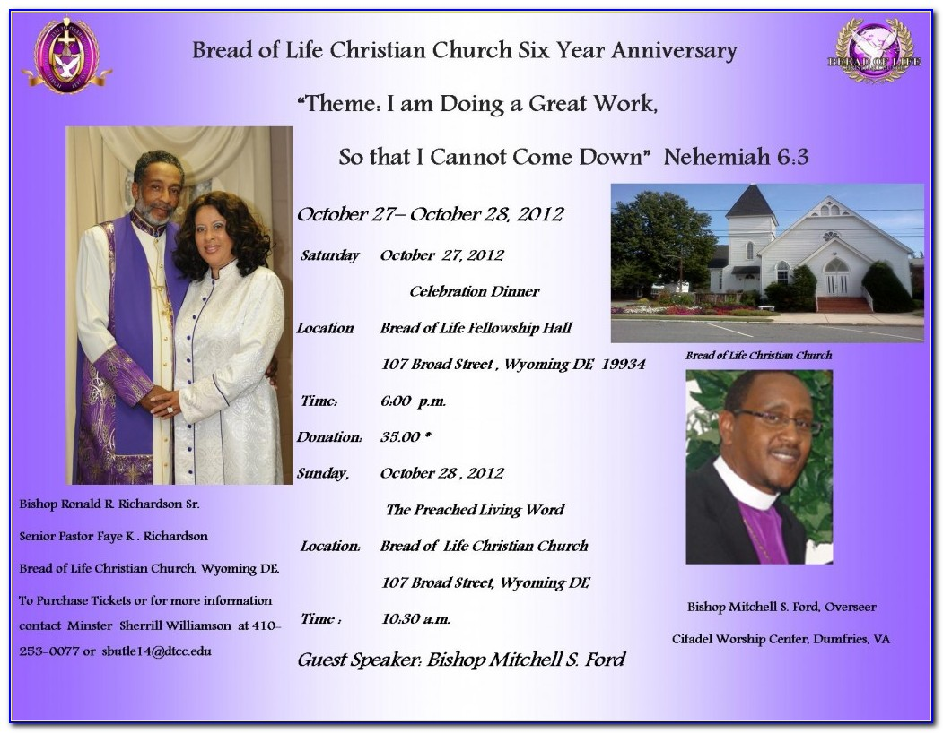Free Church Anniversary Flyer Templates Microsoft Word