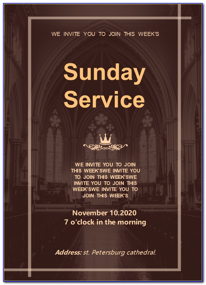 Free Church Anniversary Invitation Templates