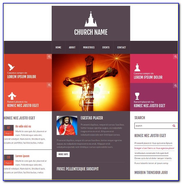 Free Church Html Website Templates Download
