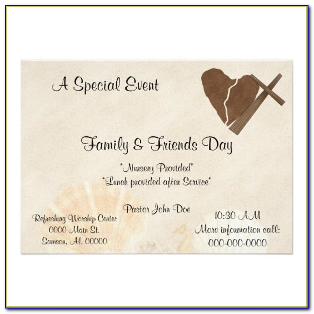 Free Church Invitation Cards Templates