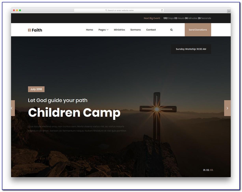 Free Church Web Template