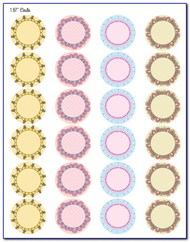 Free Circle Labels Template