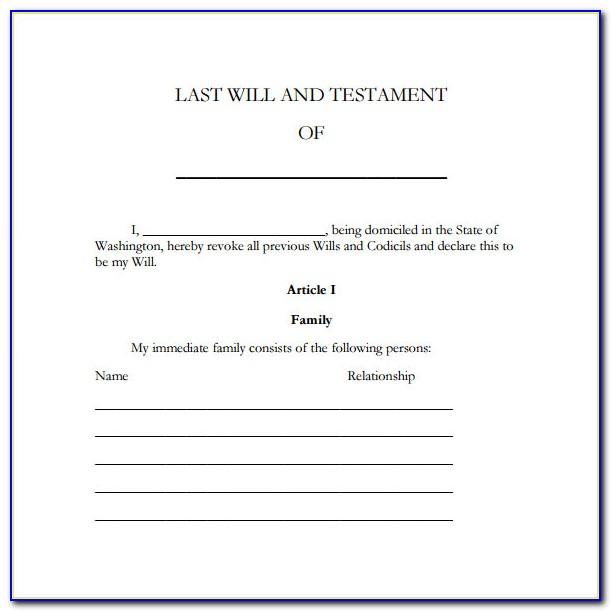 Free Codicil Forms Ontario