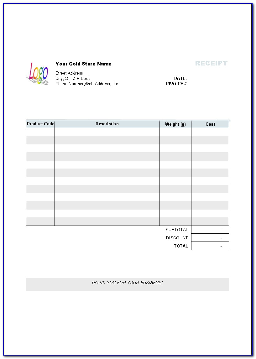 Free Commercial Invoice Template Australia