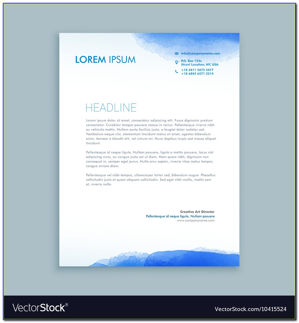 Free Company Letterhead Template Download Word