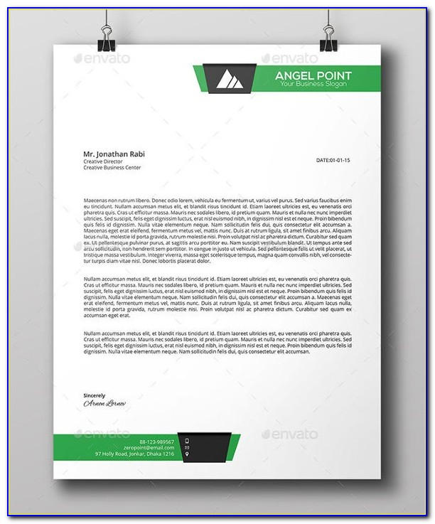 Free Company Letterhead Template Download
