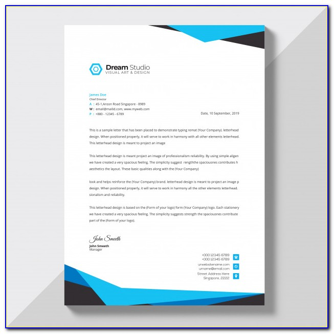 Free Company Letterhead Template Word Download