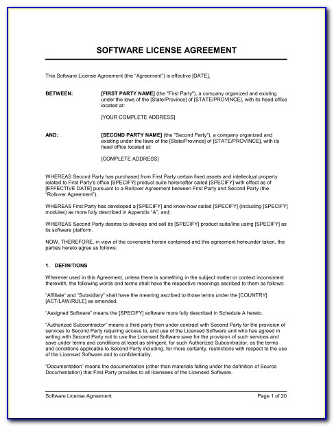 Free Copyright License Agreement Form